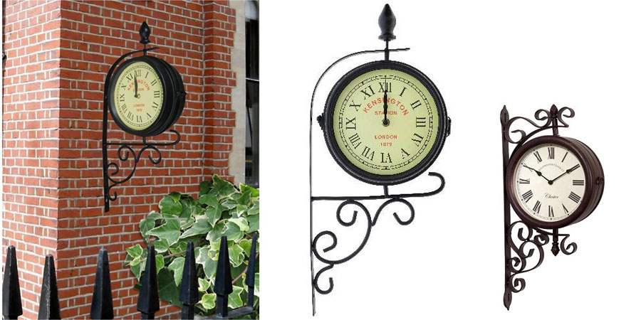 Kingfisher Dual Faced Garden Clock