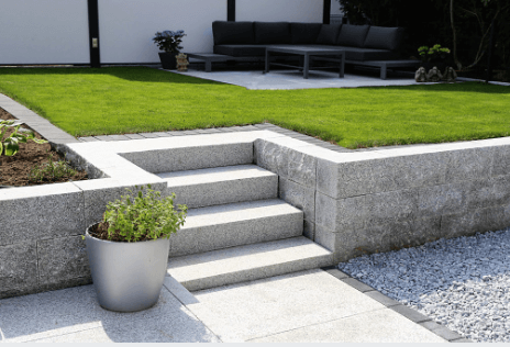 How To Build A Garden Retaining Wall In, Patio Retaining Wall Ideas Uk