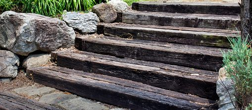 How to Build Garden Steps with Sleepers