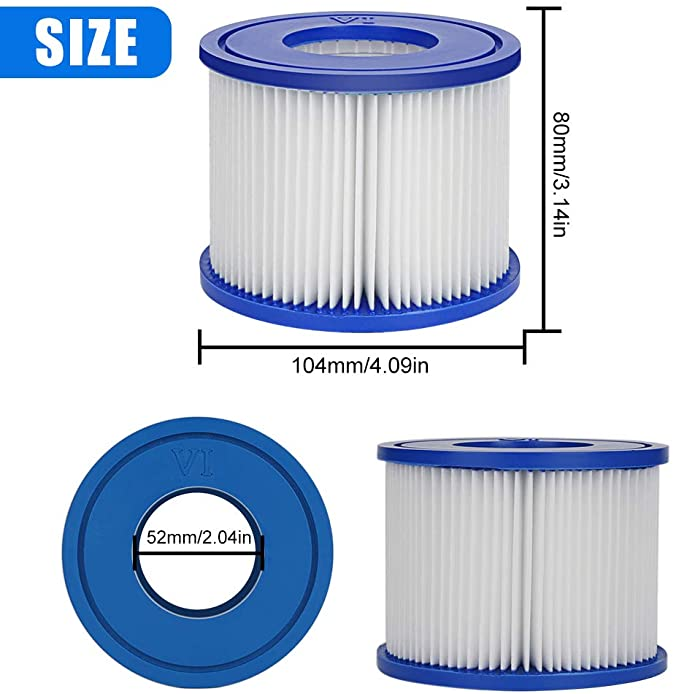 Achort Replacement Filter for Bestway Filter Cartridge VI, 2 Filters