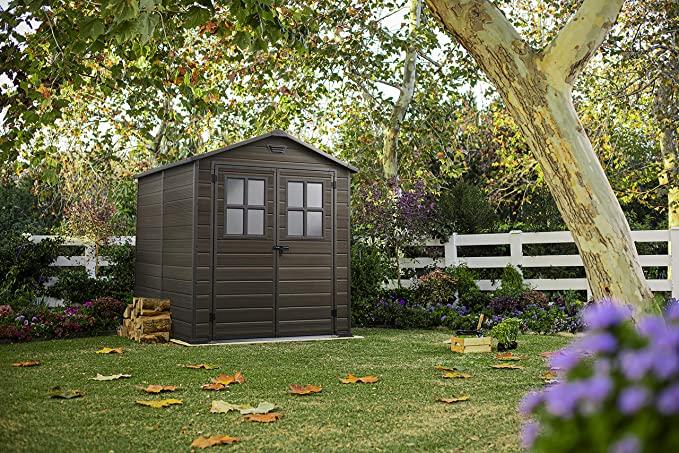 Keter 17202393 Scala Outdoor Plastic Garden Shed