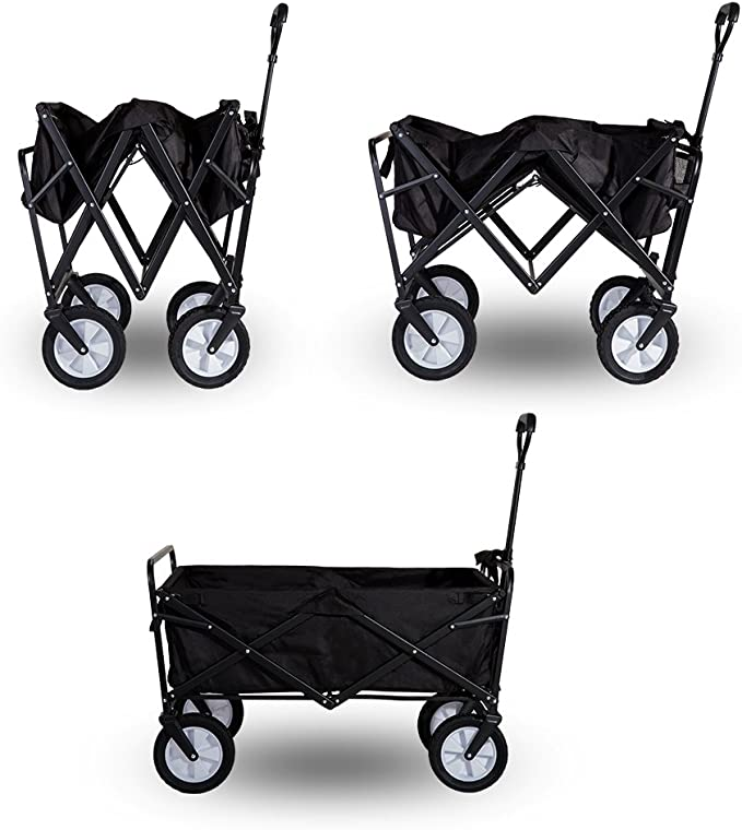 LIFE CARVER Garden Cart Foldable Pull Wagon Hand Cart