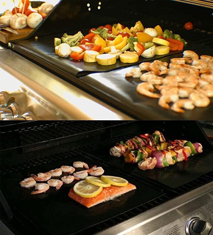 RENOOK Grill Mat Set of 6-100% Non-Stick BBQ Grill Mats