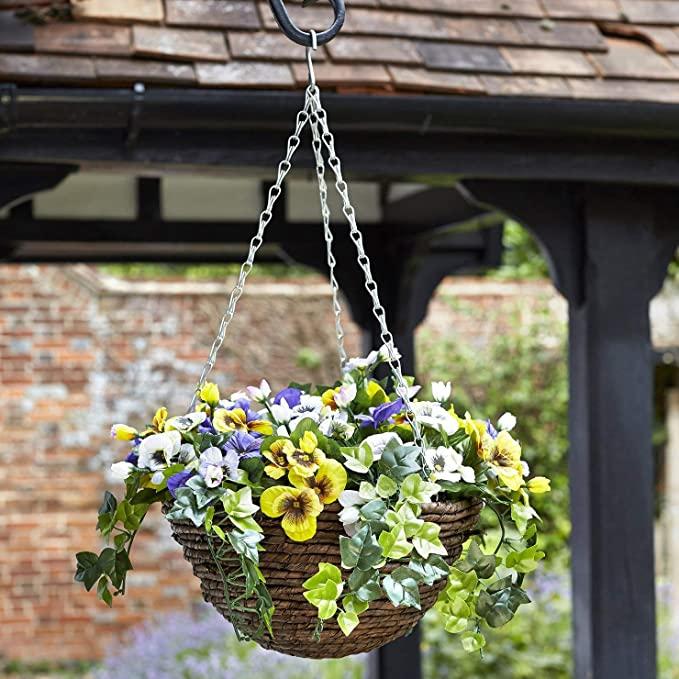 Smart Garden – Easy Hanging Basket Artificial Pansy Flower