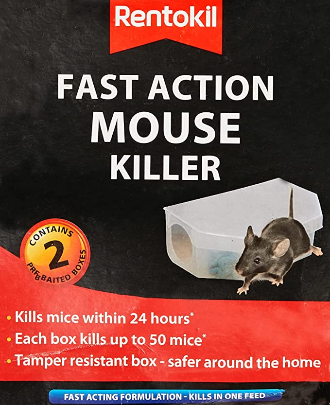 Toolbank RLPSF135 Rentokil Fast Action Mouse Killer