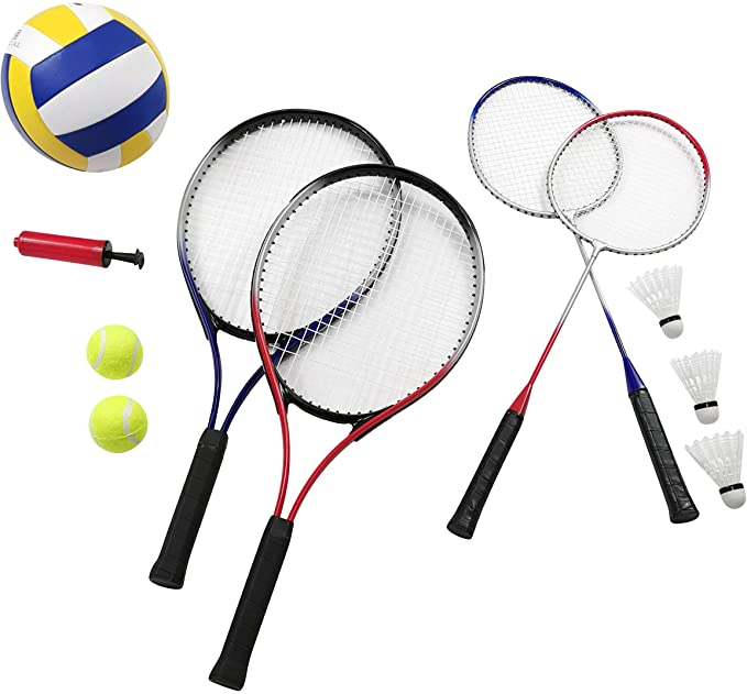 Traditional Garden Games 3 m Badminton Volleyball and Tennis Play set