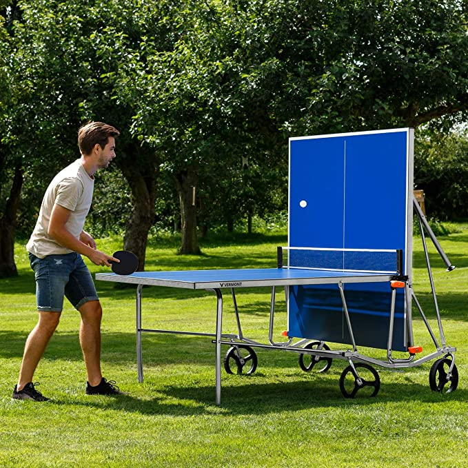 Vermont TS100 Outdoor Table Tennis Table – Portable Design | Foldable Multi-Surface Ping Pong Table