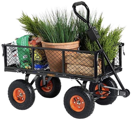 VonHaus Garden Trolley/Cart - 350kg Load Capacity