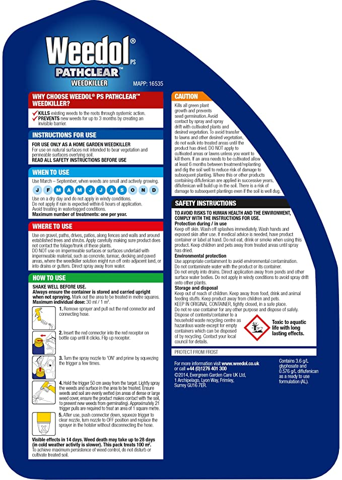 Weedol Pathclear Weedkiller Liquid Concentrate