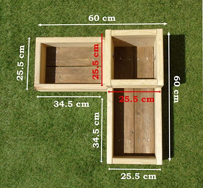 WoodShed Ltd Corner Garden Wooden Decking Planter Plant Pot