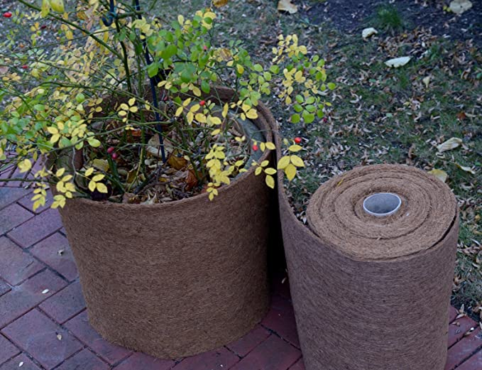 Coir insulating mat winter protection for plants