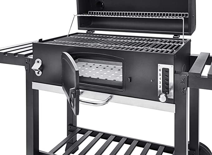 CosmoGrill XXL Charcoal Outdoor Smoker BBQ Portable Garden Barbecue Grill With Premium Cover