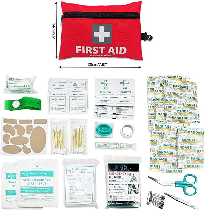 General Medi Mini First Aid Kit,92 Pieces Small First Aid Kit