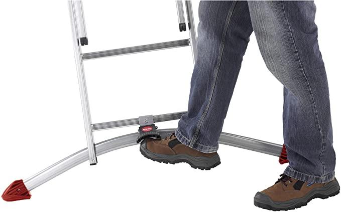Hailo 9309-501 Superior Quality Profi Combination Ladder with 2 x 9 Plus 1 x 8 Rungs