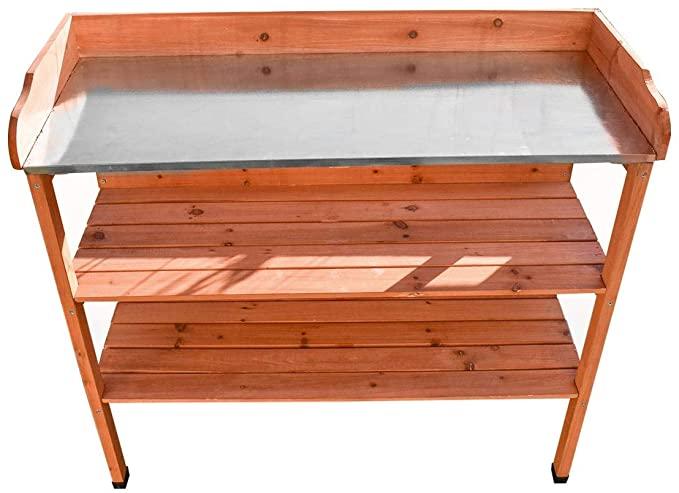 KCT 3 Tier Wooden Outdoor Garden Potting Bench
