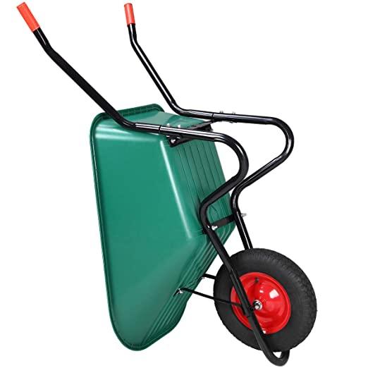 Monzana Wheelbarrow with pneumatic inflatable tyre