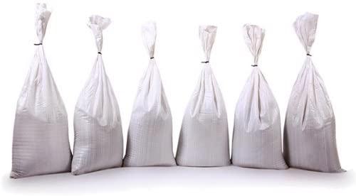 Set Of 10 Filled Polypropylene Sandbags