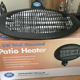 How to fit a wall-mounted garden heater